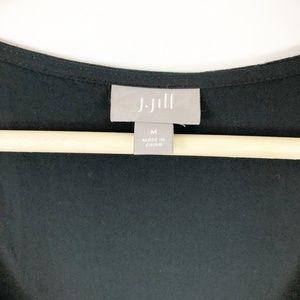 J. Jill Dresses - J. Jill Black Button Front Maxi Midi Dress Medium